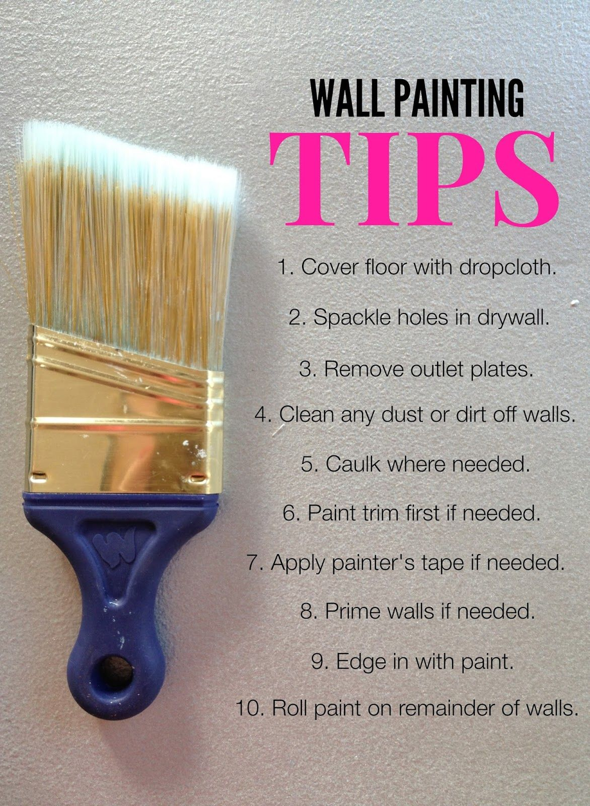 How To Paint A Room Painting Trim Home Diy Home Improvement