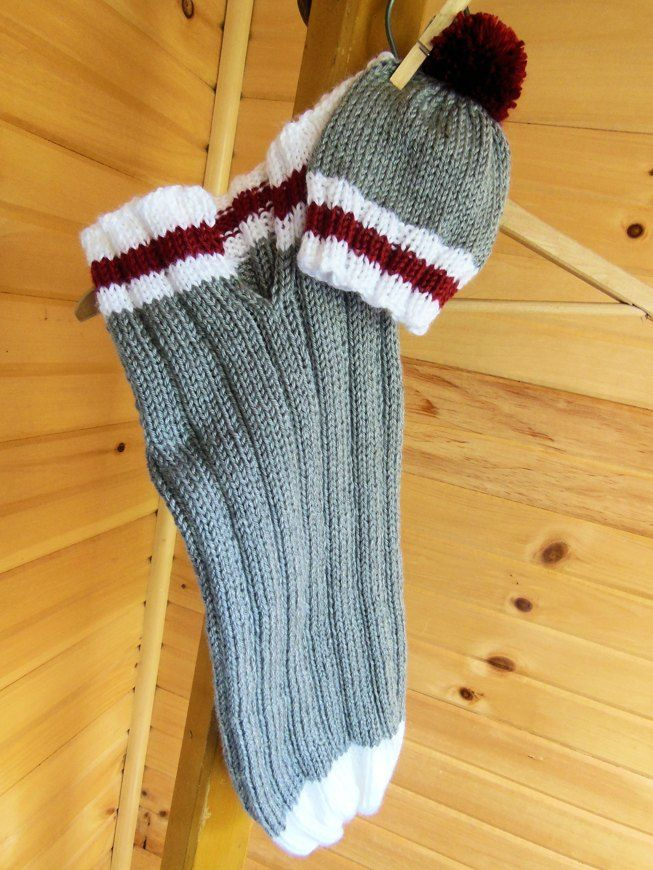 """Work Sock"" Bunting Bag and Beanie knitting project by ..."