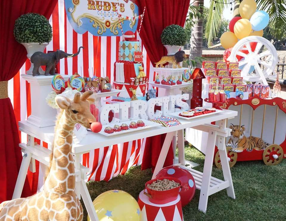 "Circus / Birthday ""Rudy's Circus Party"" 