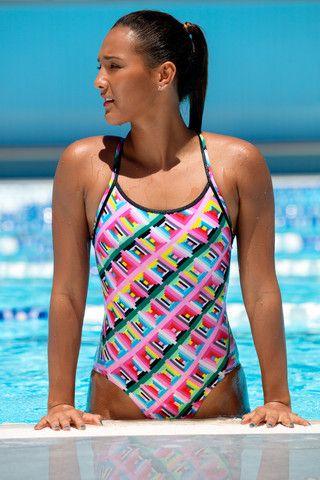 Funkita Diamond Back One Piece Swimsuit Pastel Party Swim