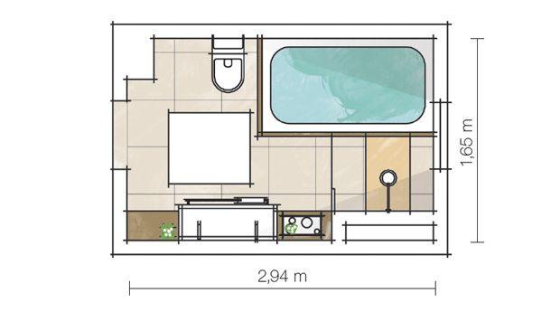 planta banheiro com banheira pequeno  Pesquisa Google  Planta  Pinterest -> Planta De Banheiro Com Banheira E Boxe