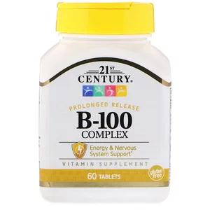 21st Century B 100複合体 持続放出型 60粒 プロバイオティクス ビオチン ビタミンb12