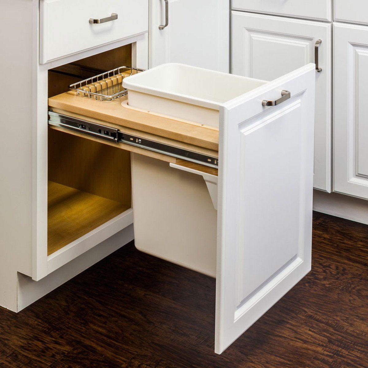 Top Mount Soft Close Single Trash Can Unit Kitchen Remodel Small Kitchen Storage Kitchen Remodel