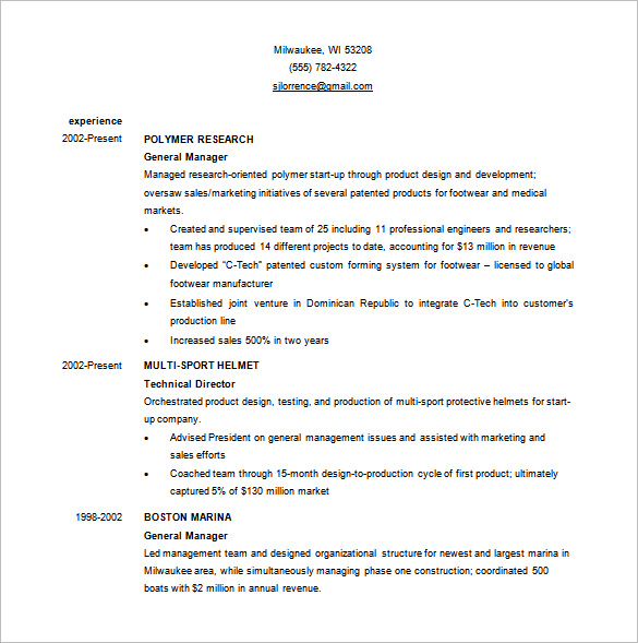 Resume Templates Business 6 Templates Example Templates Example