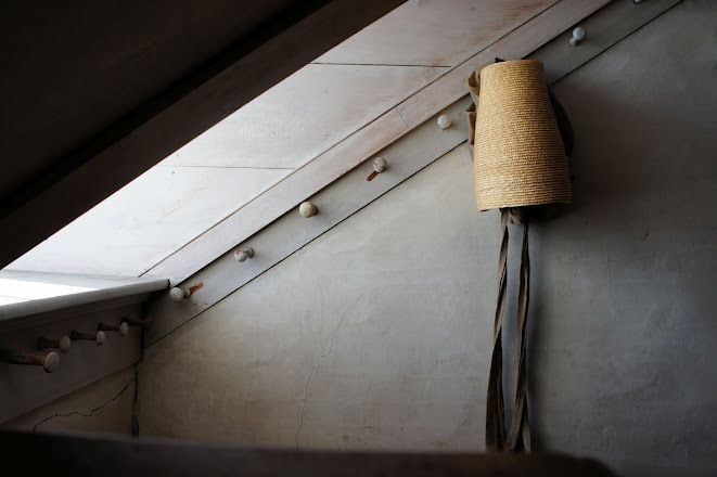 a hat and a quiet corner at Canterbury Shaker Village...