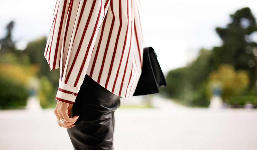 Stripes, leather and Tom Wood | STYLEHEROINE