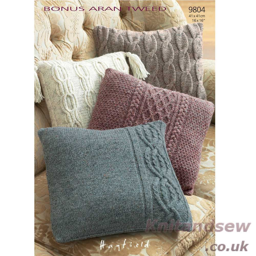 Hayfield bonus aran tweed knitting pattern 9804 hayfield bonus pillow cases in hayfield bonus aran tweed with wool discover more patterns by hayfield at loveknitting the worlds largest range of knitting supplies we bankloansurffo Gallery
