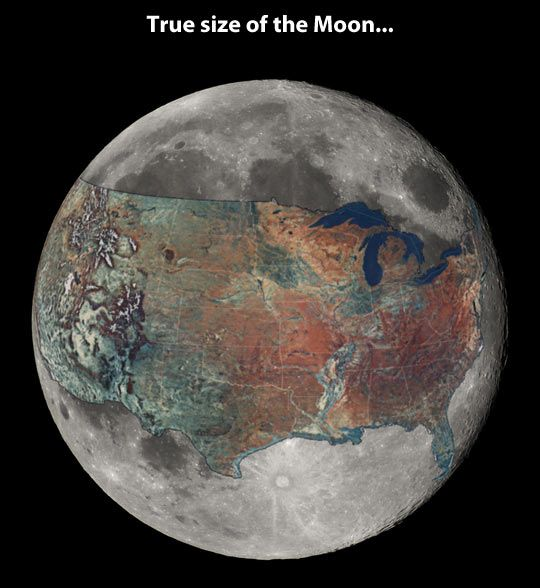 Sometimes people don't realize the true size of the moon…