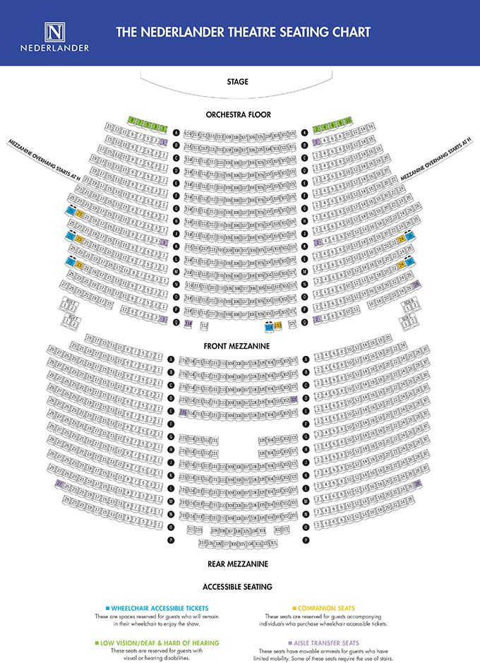 Nederlander Theatre Seating Map