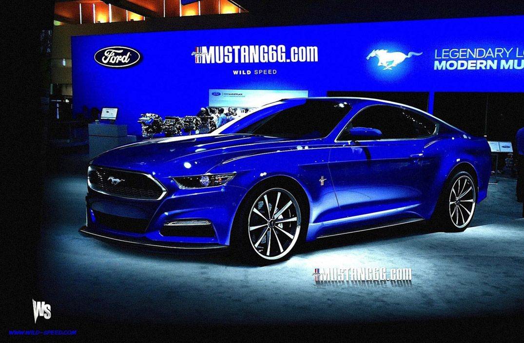 two of the latest 2015 mustang renderings have really stepped back the design langauge introduced with the ford evos concepts - Ford Mustang 2015 Blue