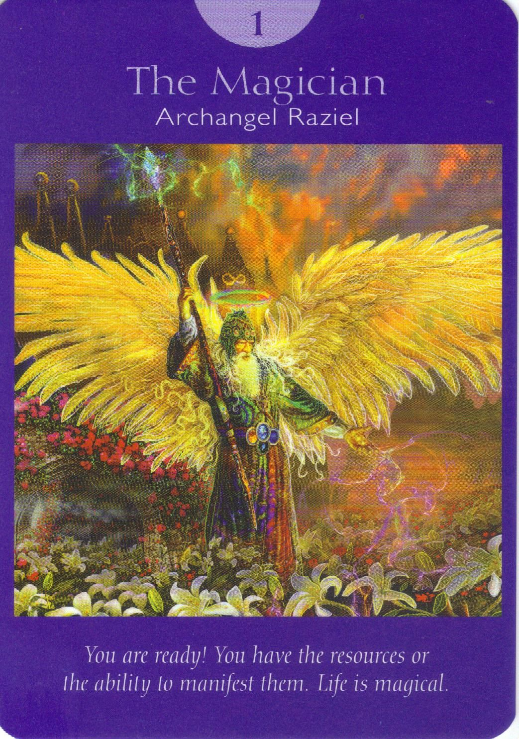 Archangel raziel came up in my hand tonight what a