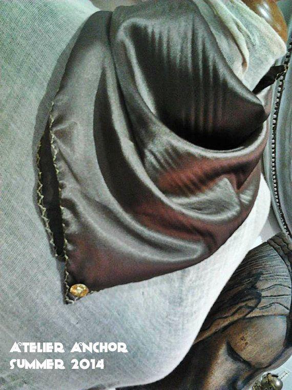 Glorosia''Handmade Satin scarf in a jam by AtelierTheAnchor, €18.00