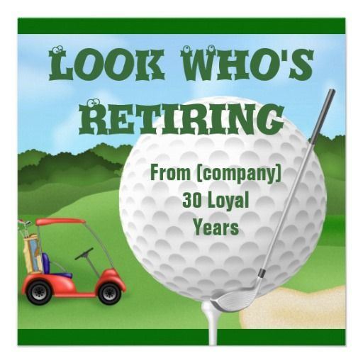 Funny Golf Retirement Invitations TEMPLATE Retirement invitations - best of free invitation templates for retirement party