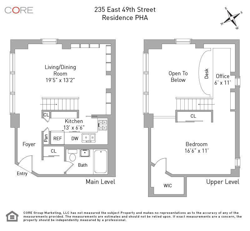 Pretty Turtle Bay Duplex With Surprisingly Spacious Loft Wants 695 000 Apartment Floor Plans Floor Plans Duplex For Sale