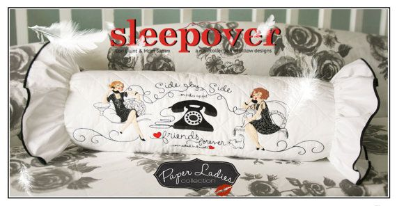 Side by Side, Sleepover Collection, Pillow Patterns by Paper Ladies