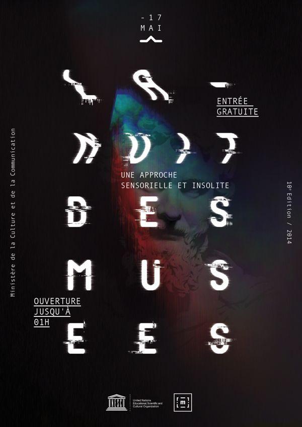 poster | La Nuit Des Musées by Adrien Doud     #typography