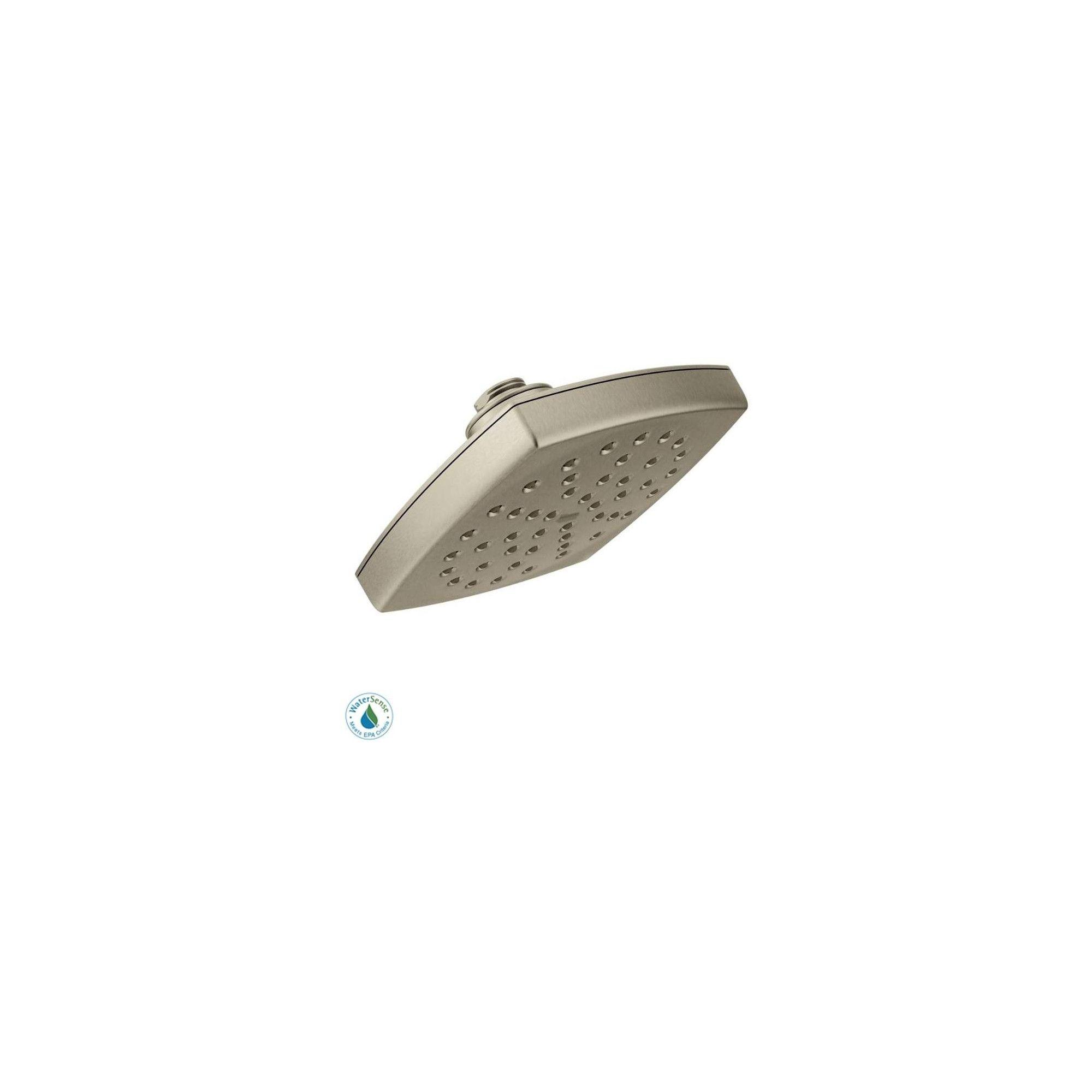 Moen S6365ep Voss 6 Single Function Shower Head Brushed Nickel