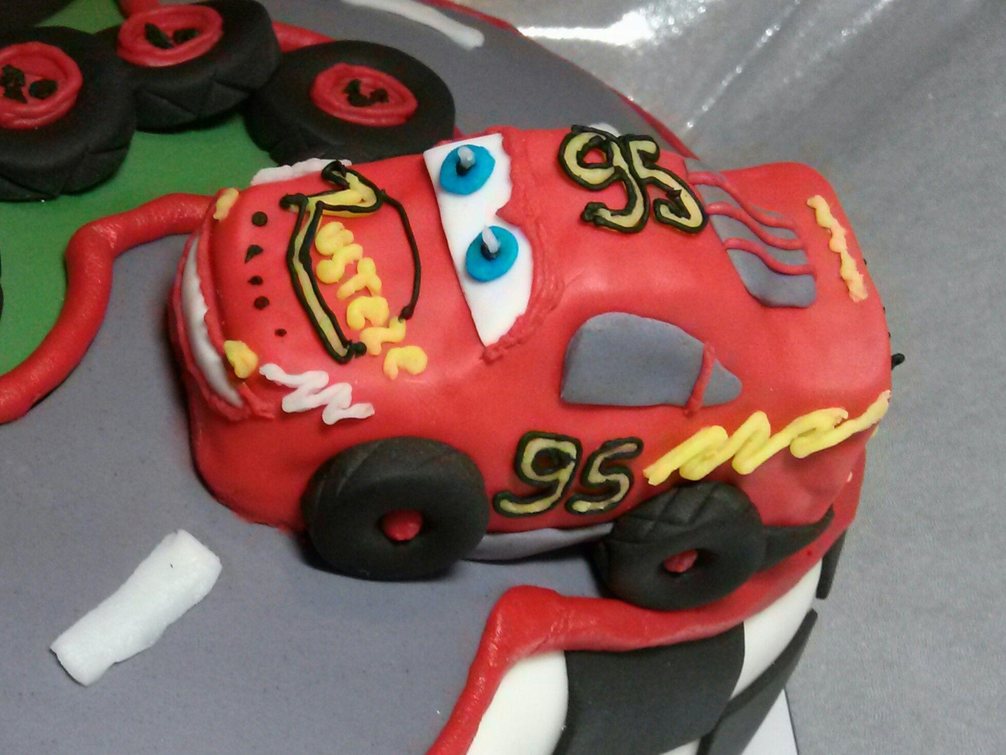 Cars inspired lightning mcqueen cake topper lightning