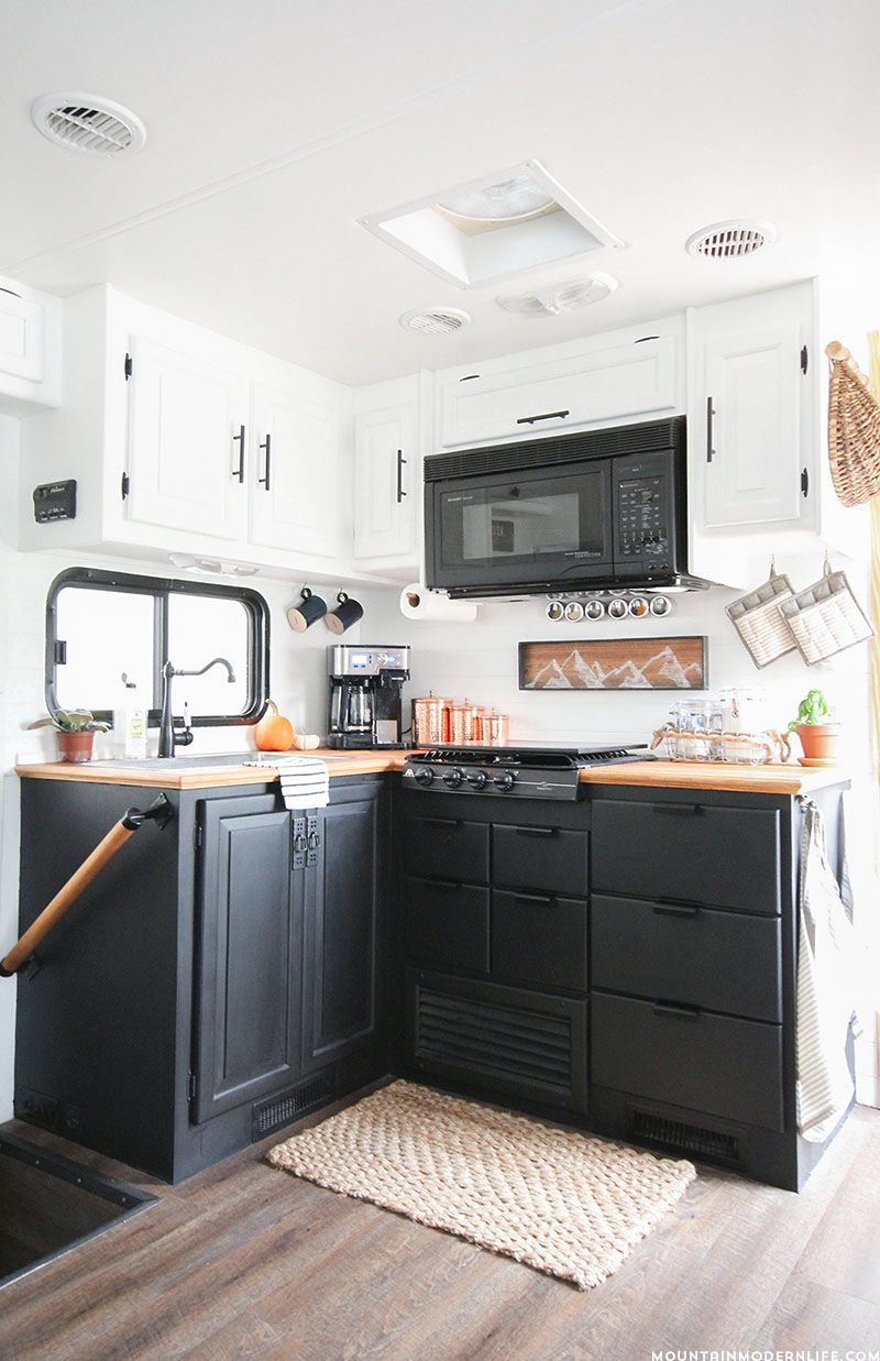 How To Paint Your Rv Kitchen Cabinets And What Not To Do Rv Kitchen Remodel Camper Trailer Remodel Kitchen Renovation