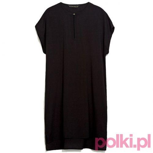 Czarna sukienka, Zara #polkipl