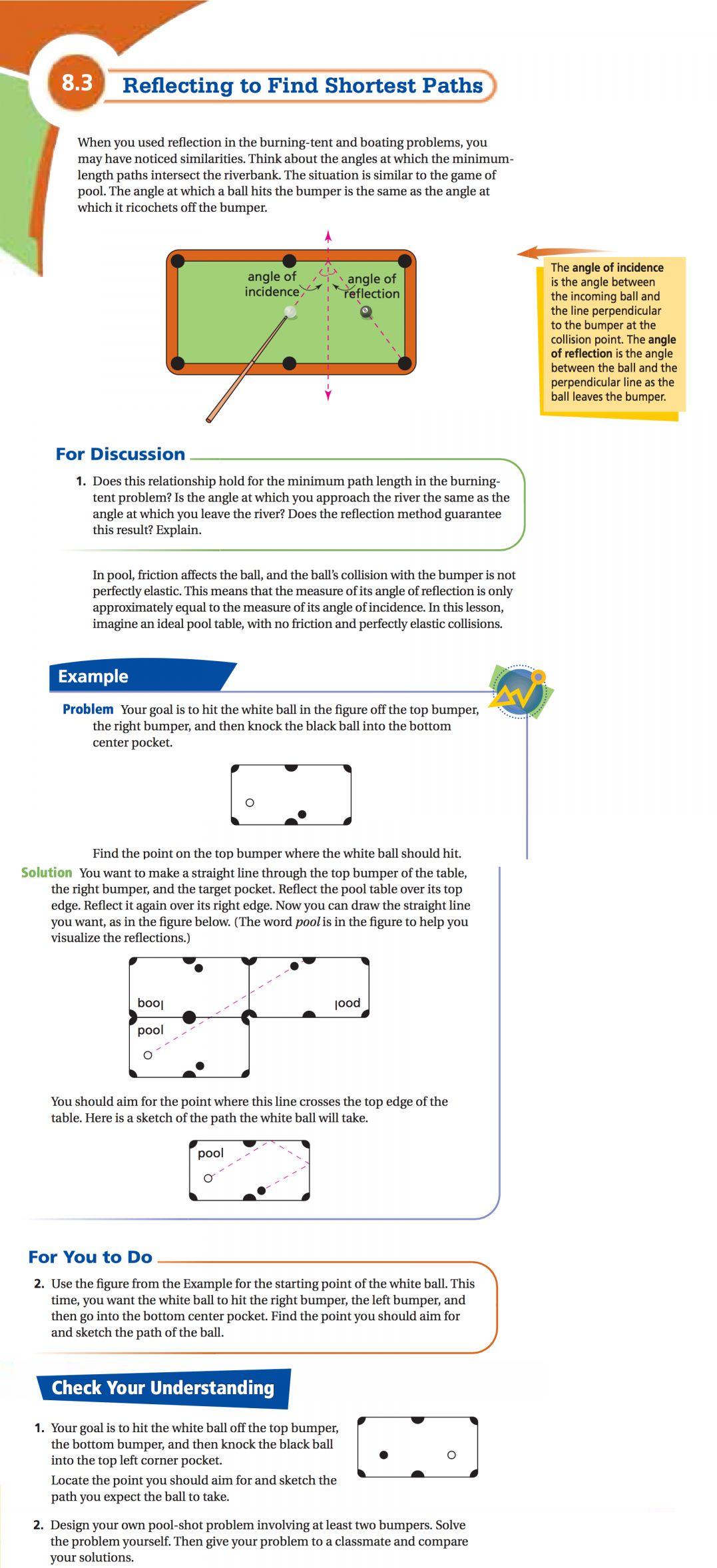 7 Diagram Of Elliptical Pool Math Worksheet