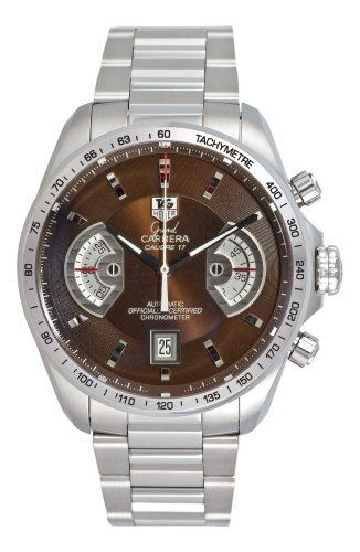 e0fcc1786a26d TAG Heuer Men s CAV511E.BA0902 Grand Carrera Automatic Chronograph Brown  Dial Watch TAG Heuer.