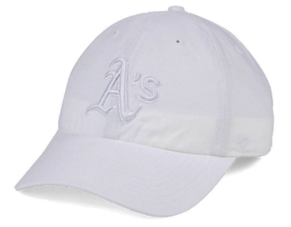 Oakland Athletics 47 Clean Up White Hat With White Logo Oakland Athletics White Hat Hats