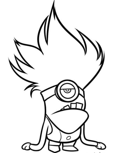 Evil Minion Noisemaker Coloring For Kids - Despicable Me cartoon ...