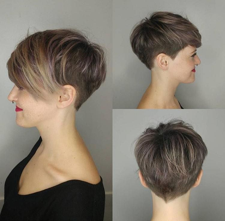 Pin By Pam R On Kapsels Undercut Hairstyles Women Thick Hair Styles Short Hair Styles