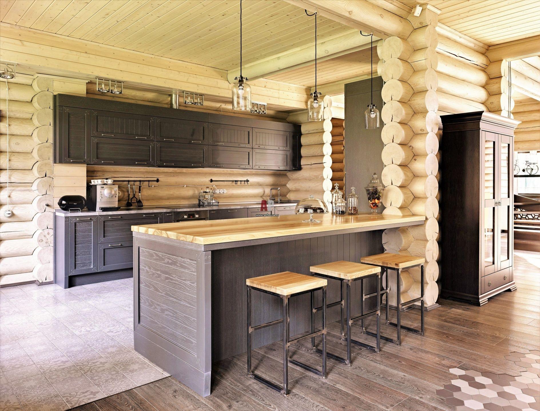 получается очень кухня в бревенчатом доме картинки майк