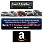 Free $50 Amazon gift card when you test drive a Ford
