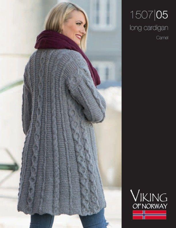 Camel – Long Cardigan – 1507-05 | Knitting Fever Yarns & Euro Yarns ...
