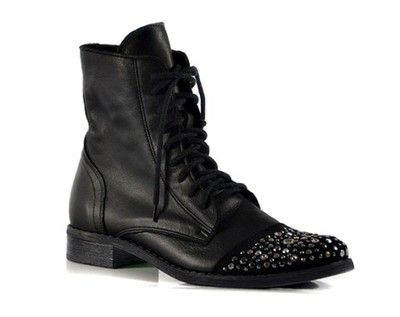 Workery Trzewiki Zdobione Dzetami Skora 36 41 6594044017 Oficjalne Archiwum Allegro Combat Boots Shoes Boots
