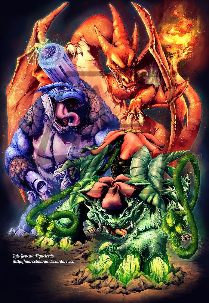 First Pokemon Mega Evolution Starters by marvelmania ...