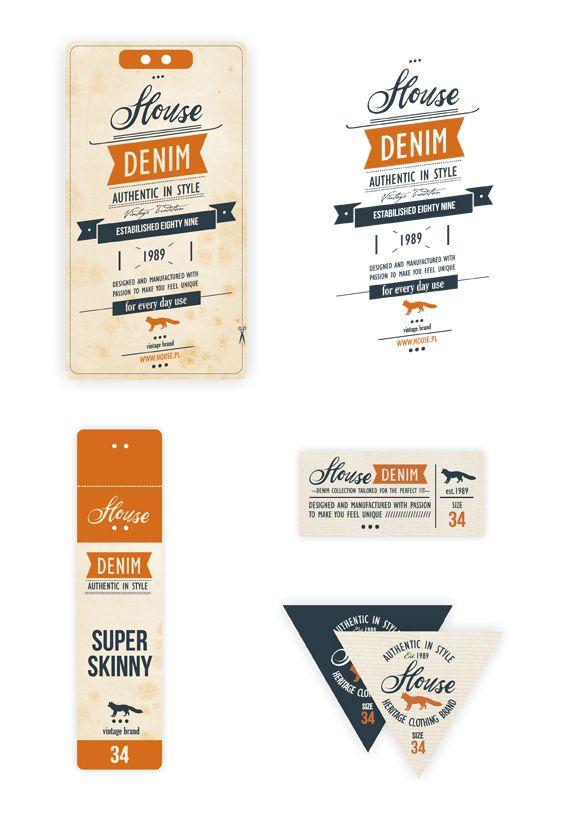Denim Swing Tag  Label  /part B by Anna Maja Czech, via Behance