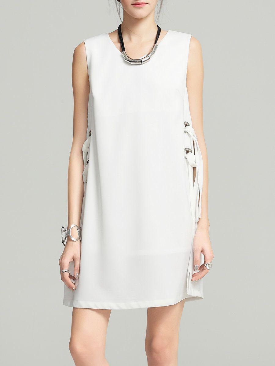 Adorewe stylewe mini dresses designer vc v neck sleeveless simple