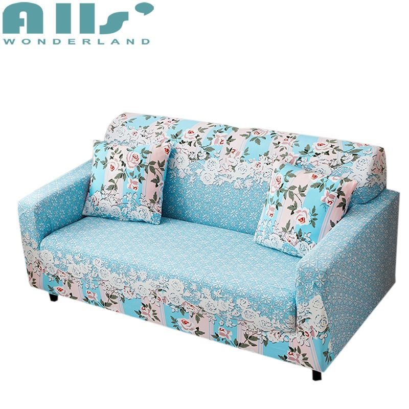 Blue Flowers Universal Stretch Furniture Covers For Living Room Multi Size Corner Sofa Slipcovers Polyester Couch Sofa Covers Furniture Covers Slipcovered Sofa