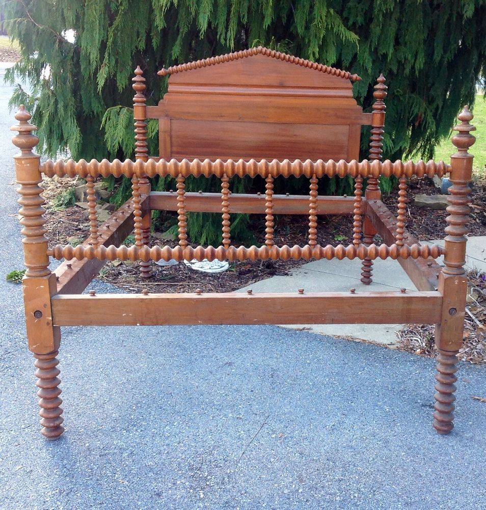 Best Antique Jenny Lind Rope Bed 1800S Full Size For Sale 400 x 300