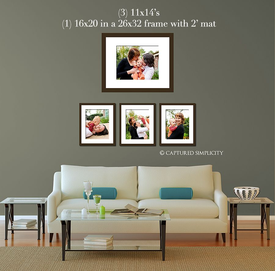 11x14s And A Framed 16x20 Over Couch Sofa Wall Displays For