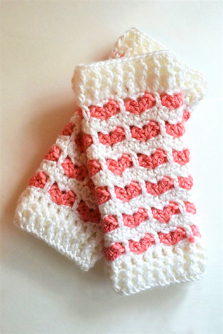 Free Pattern] Adorable Heart Stitch Leg Warmers For Babies And Kids ...