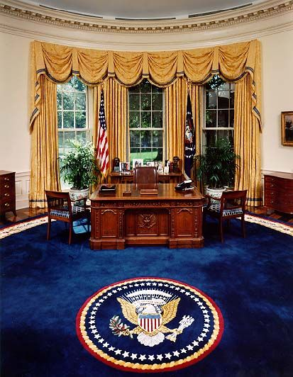 The white house supposedly symbolizing democracy the for Oval office white house