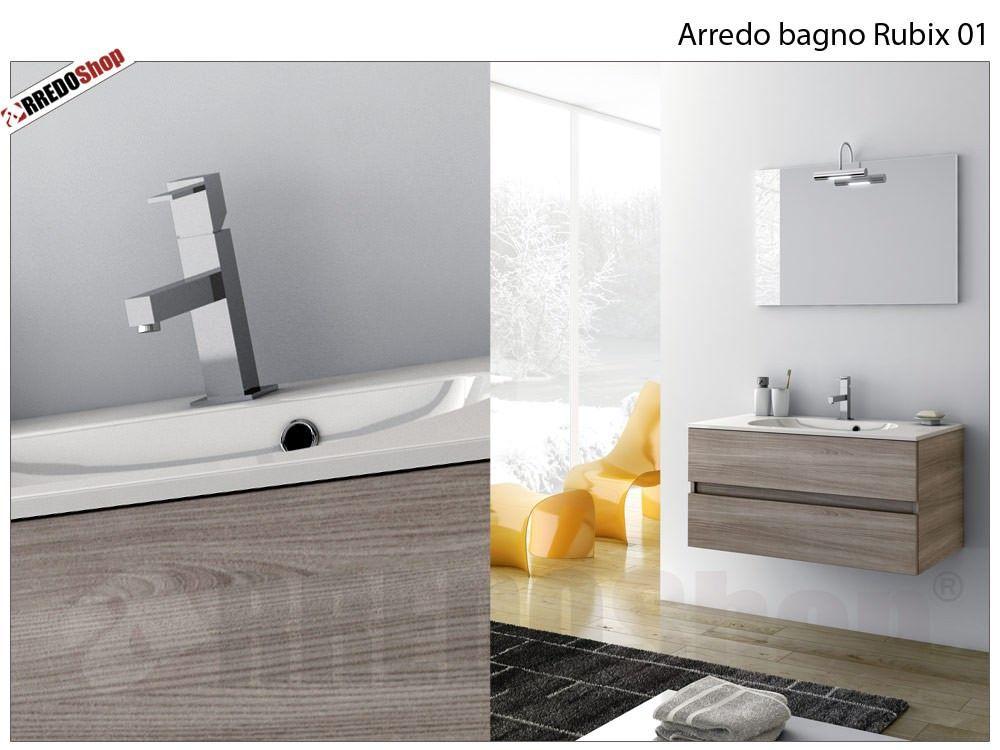 l' arredo bagno rubix 01 è composto da: nr.1 base portalavabo a ... - Misure Arredo Bagno