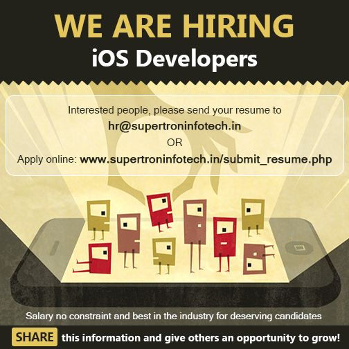 We ARE HIRING iOS Developers!!! Interested people, please send - ios developer resume