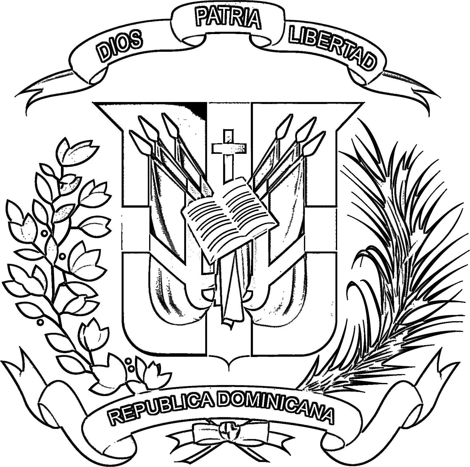 Escudo De Republica Dominicana Para Imprimir Buscar Con Google Tattoo Machine Tattoos Dr Flag