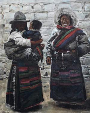 1995 TIBETAN FIGURES, Xu Weixin (徐唯辛; b1958, Urumqi, Xinijiang Province, China)