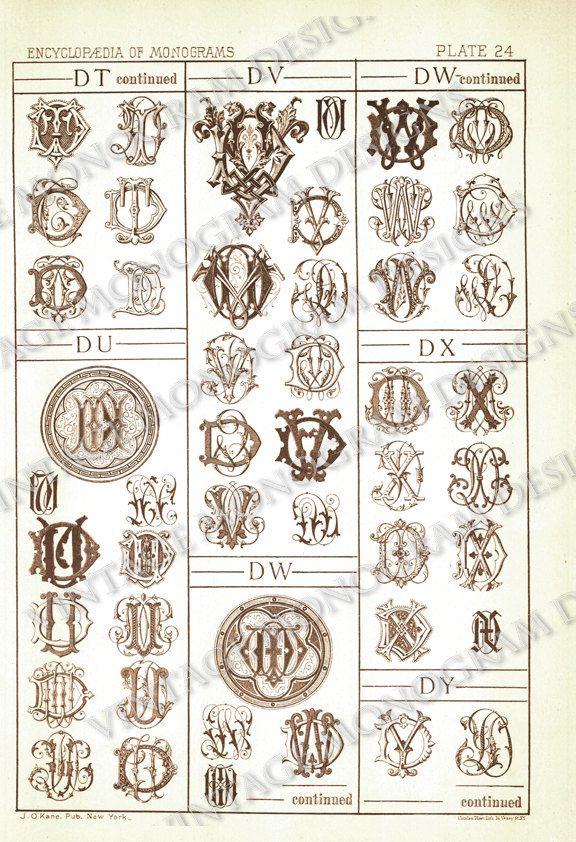 Monogram Monogram Fonts Monogram Crest Monogram