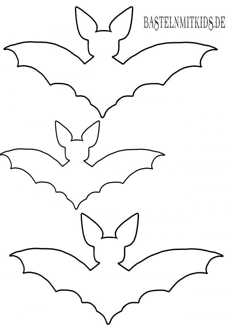 Fledermaus Basteln Mit Vorlage  Basteln Mit Kindern  Happy