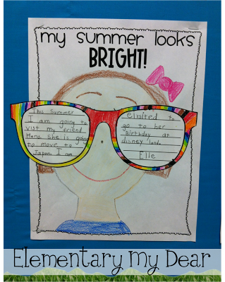 153eab303ac4 My Summer Looks Bright! Summer Writing Activity FREEBIE | school ...