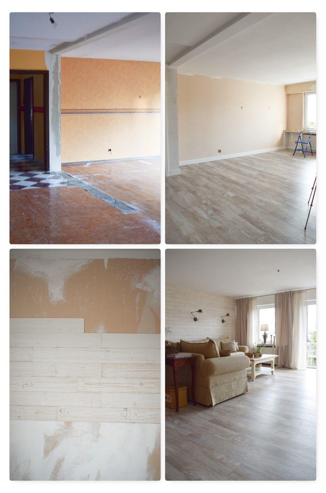Renovierung Wohnzimmer Vorher Nachher. Holzverkleidung für ...