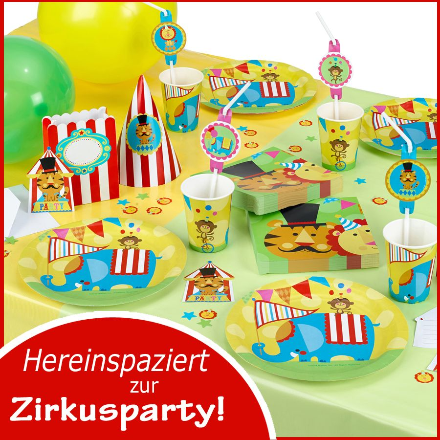 party deko f r kindergeburtstag zirkus zirkus geburtstag party ideen pinterest zirkus. Black Bedroom Furniture Sets. Home Design Ideas